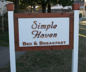 Simple Haven sign